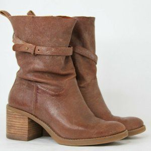 Lucky Brand Leather Ramsey Pull On Mid Calf Boots